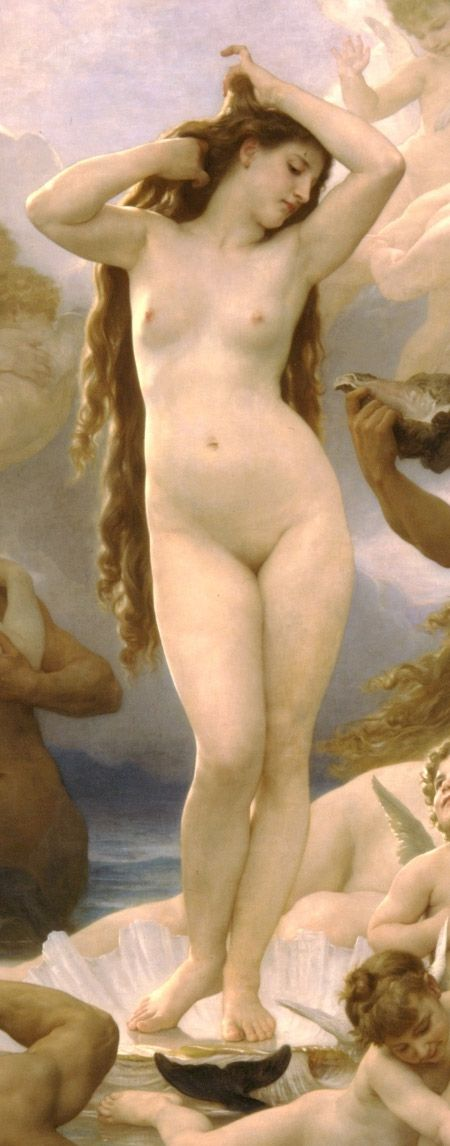Birth of Venus (detail) by William-Adolphe Bouguereau, 1879. ~via Wikimedia
