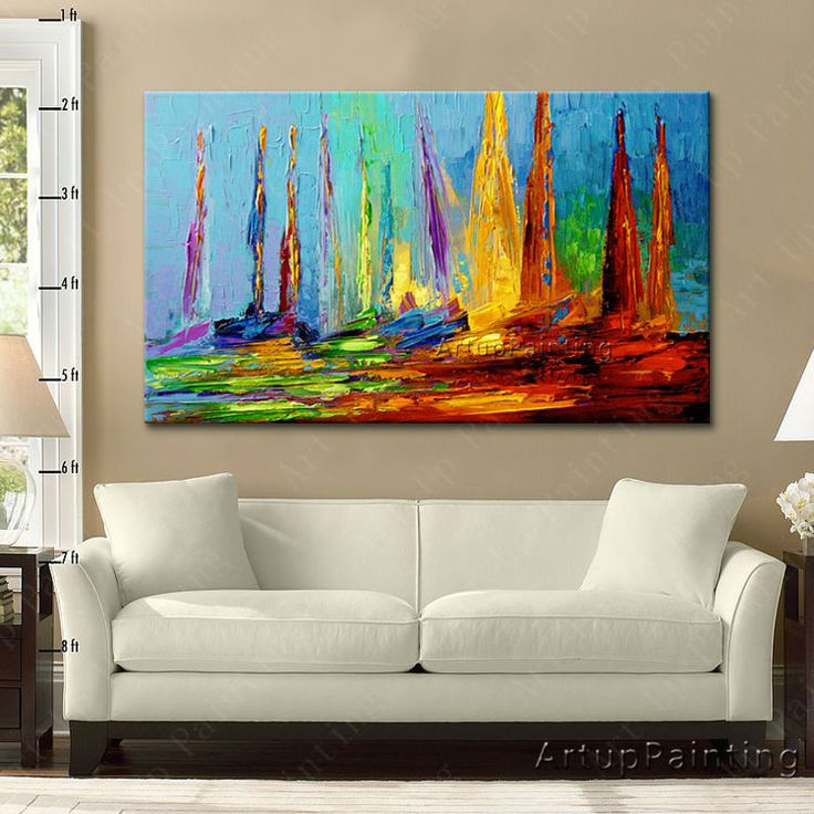 19 best hand painted canvas oil painting wall pictures for living