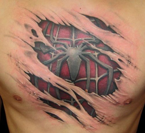 Spiderman chest peace