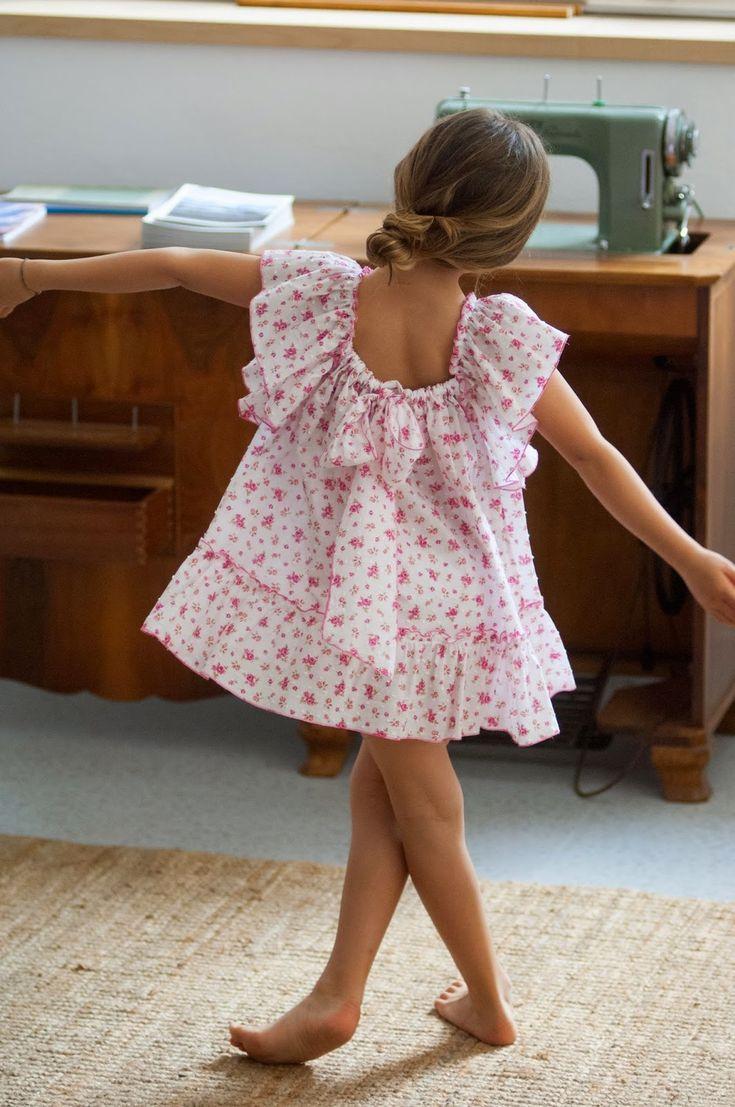 No sin Valentina: Lazo en la Espalda Plumeti de flores rosas...y un BOMBÓN de niña!!!!!!!!