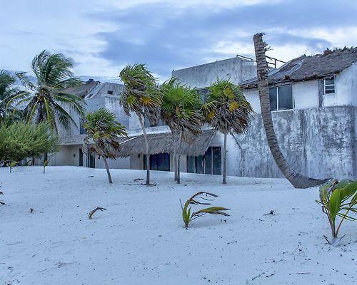 Ruins of Pablo Escobar's beach villa, Yucatan Coast, Mexico