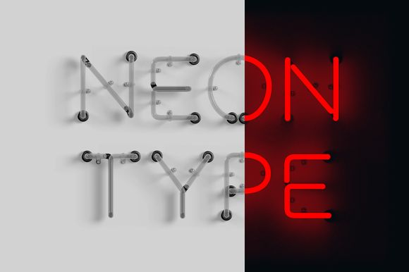 Neon Type by Dashwood on Creative Market | pinned by www.amgdesign.nz #display-fonts #fonts #neon