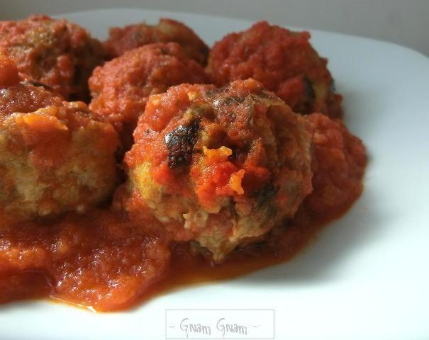 Polpette+di+melanzane+al+sugo+|+Ricetta
