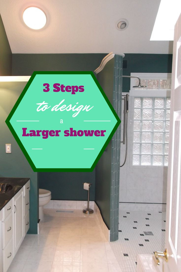 Learn steps and strategies to make a larger shower without having to increase the size of your bathroom! http://blog.innovatebuildingsolutions.com/2015/05/09/large-shower-making-bathroom-bigger/