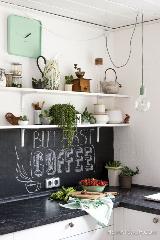 A Chalkboard Splashback Is A Great Addition To Your Kitchen! Write A  Grocery List Or