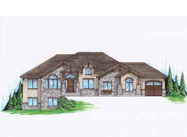 Mountain Style Rambler Home Hwbdo74749 Craftsman House Plan From Builderhouseplans Com