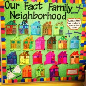 Fact Family Bulletin Board
