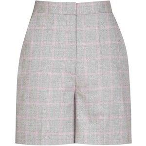 Reiss Marina Checked Shorts, Pink/Grey