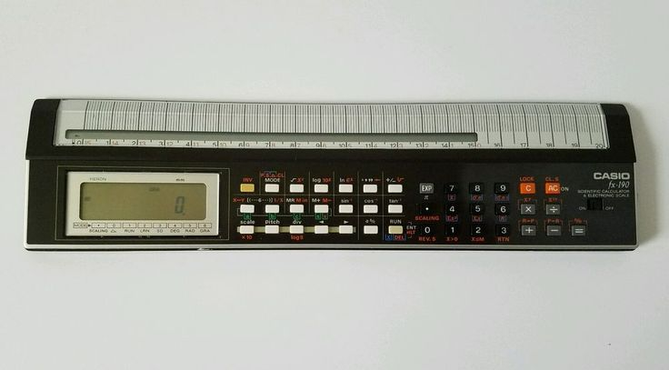 Vintage CASIO fx- 190 Scientific Calculator and Electronic Scale #Casio