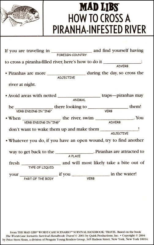 Mad Libs Worst-Case Scenario Survival Handbook: Travel | Additional photo (inside page)