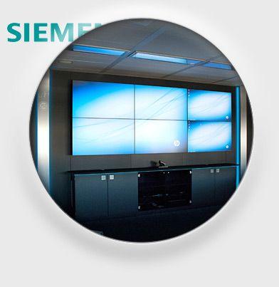 JST Siemens  Referenz Kontrollraum Leitstand Großbildwand Videowall Jungmann Systemtechnik Multiconsoling Operator-Desk Operator-Möbel Broßbildtechnik Videowand
