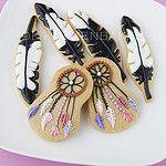Feather cookies por De Koekenbakkers