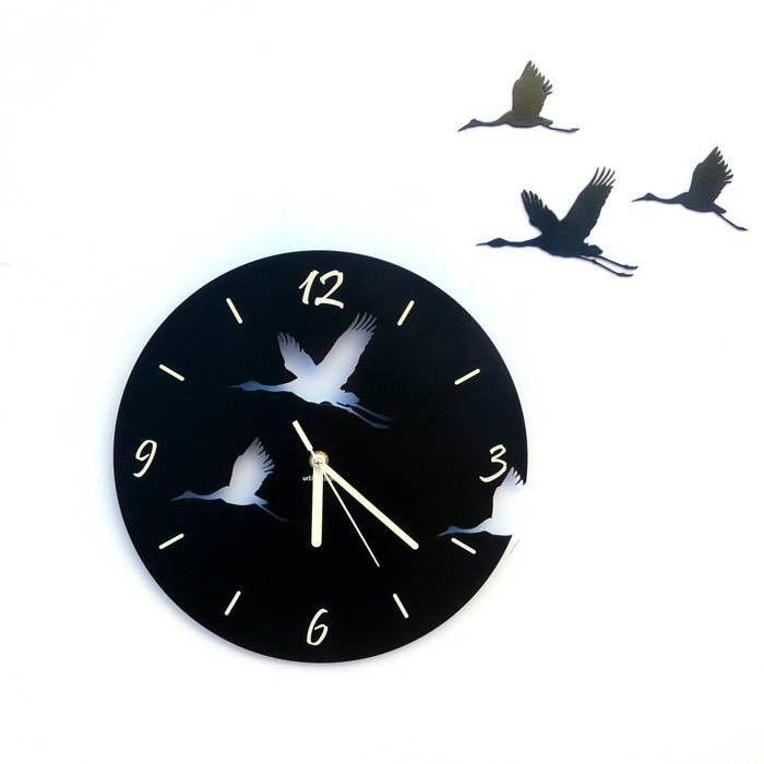 Dekoracyjny zegar ścienny Urlik Design Żurawie ◾ ◾ PrezentBox