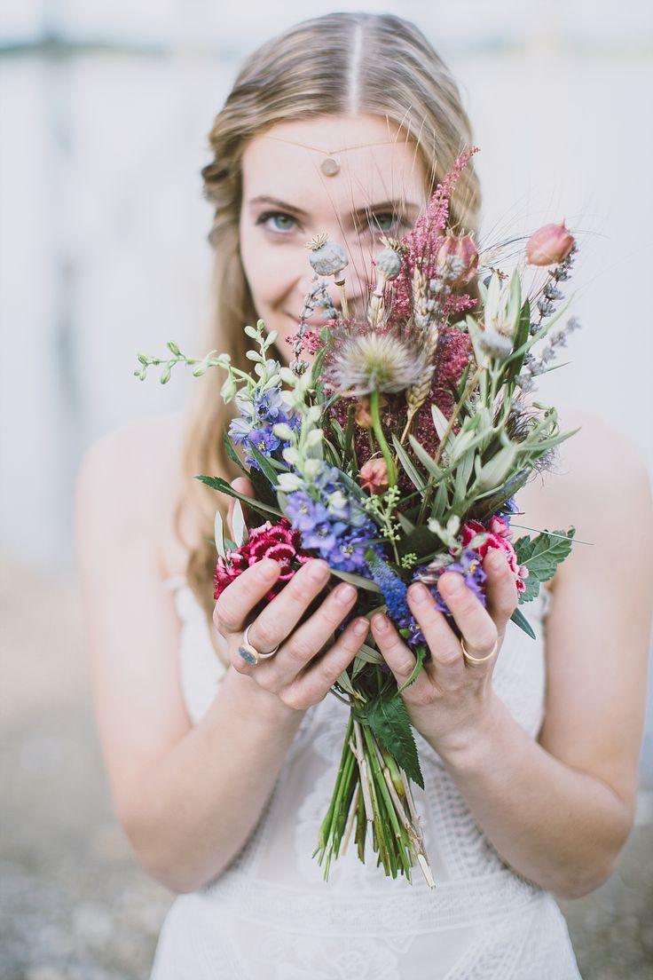Brautstrauß Boho bunt