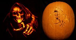 Grim Reaper Pumpkin by Kamose