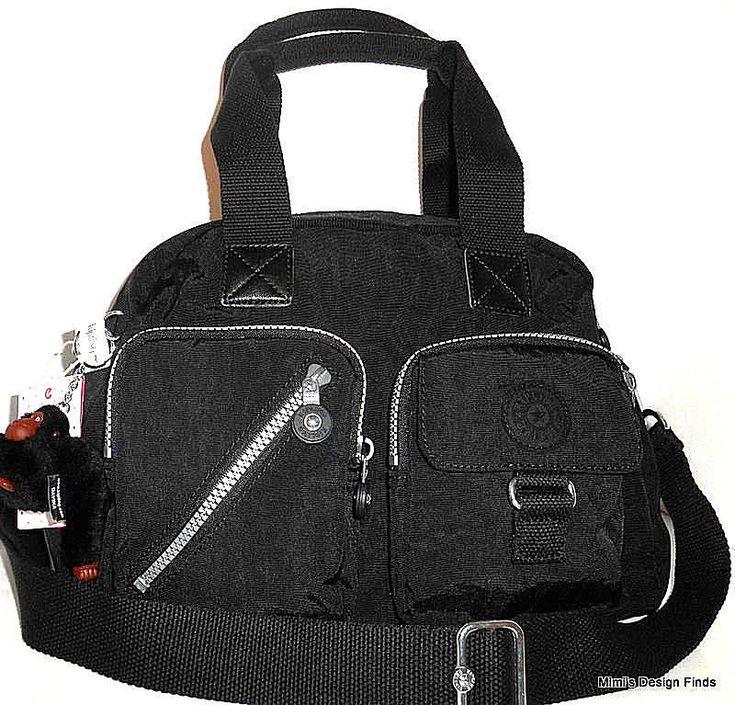 KIPLING Defea Crossbody Satchel Shoulder Travel Bag NEW Black Nylon HB7238 NWT #Kipling #CrossbodySatchel