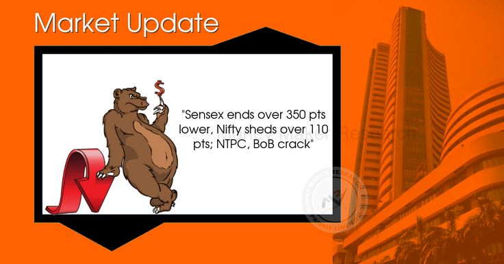 The #Sensex closed down 362.43 points at 31388.39, while the #Nifty ended down 116.75 points at 9796.05. The market breadth was negative as 847 shares advanced against a decline of 1711 shares, while 138 shares were unchanged. M&M, Wipro and Tech Mahindra were the top gainers on both indices, while NTPC, Bank of Baroda and Tata Motors DVR lost the most. #MoneyMakerResearch