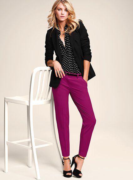 Long & Lean Jacket/Silk Sleeveless Shirt/The Frankie Trouser - Victoria's Secret