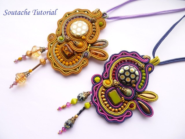 Instant Download Pdf Soutache Tutorial Pendant Tutorial Soutache Embroidery Pattern DIY English Soutache Tutorial. $18.00, via Etsy.