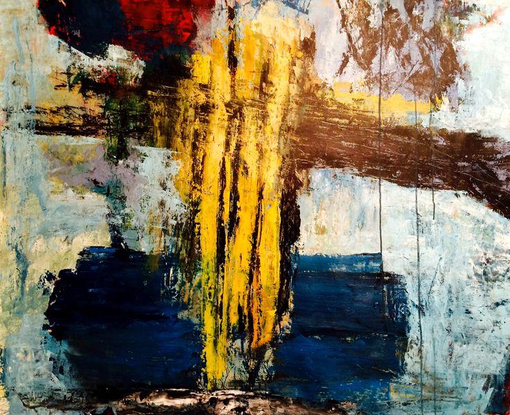 Acryl på lærred, 130 x 100 cm, jan. 2015