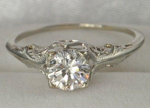 diamond silver ring - gorgeous: Ideas, Vintage Engagement Rings, Vintage Weddings, Band, Dreams, Style, Vintage Rings, Jewelry, Wedding Rings