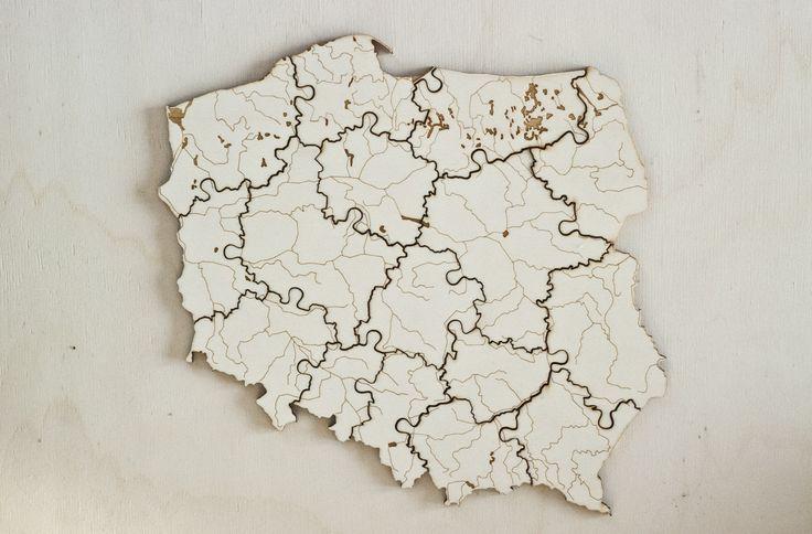 "engraved ""Poland"" jigsaw-puzzle by Lokalny #poland #jigsawpuzzle #limitededition #engraved #water #river #lokalny #puzzle"