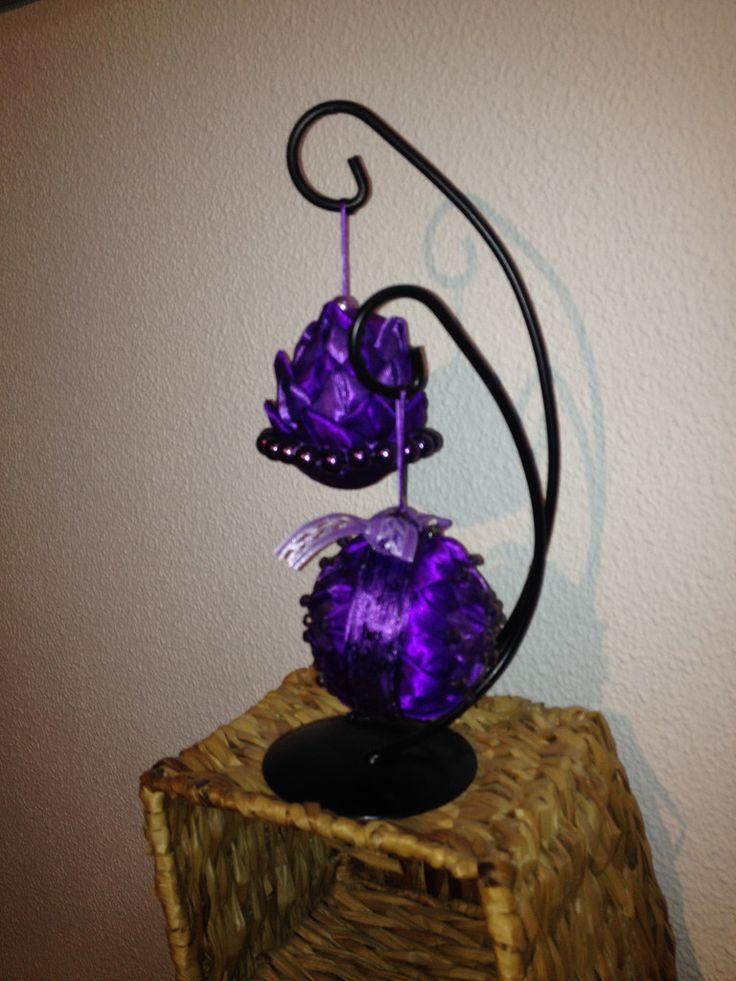 Exclusivo! Art 9 Lila set med 2 kulor - Art 9  púrpura ajusta con 2 balas  http://marinas-tienda-de-artesanias.myshopify.com/