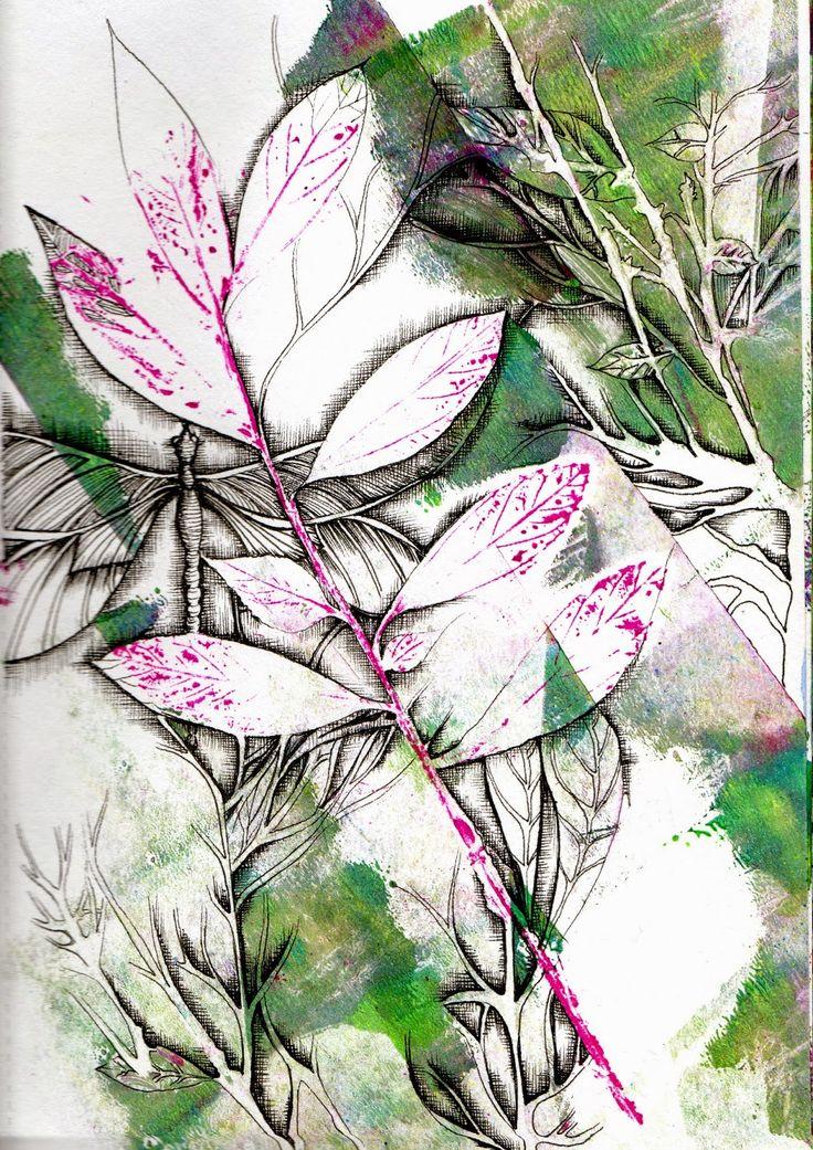 Freckles and Flowers blog. Paula Watkins Gelli Arts workshop.
