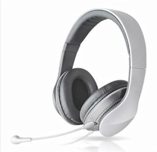 Britz K830 Headset Stereophones High Perfomance Headphones White Silver