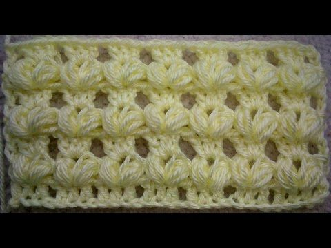 CROCHET PUFF STITCH PATTERN TUTORIAL - VARIATION 1 - YouTube