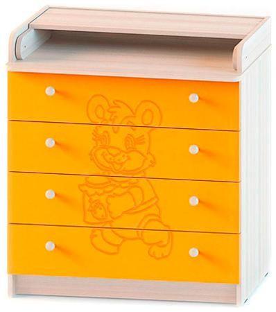 Атон Мебель Комод раскладной мод.кр 80к/4 пвх венге-ваниль мишка- 4 ящика (мишка/ясень шимо светлый - оранжевый)  — 4063р.  Комод раскладной,модель КР 80К/4 ПВХ венге-ваниль Мишка-4 ящика Материал-МДФ,ПВХ Габариты-высота-93,5 см,ширина-80 см,глубина-45 см Вес-40 кг Основные характеристики: -верхняя крышка раскладывается,что увеличивает площадь поверхности стола -4 вместительных выдвижных ящика -фурнитура обеспечивает надежную работу всех подвижных частей Стильный дизайн идеально подойдет для…