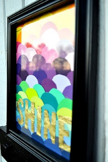 paint swatch art  --Blog has a lot of fun diy projects!