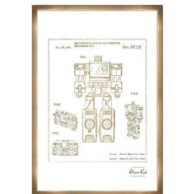 Trent Austin Design Perceptor 1986 Framed Memorabilia in Gold Frame Color: Bronze