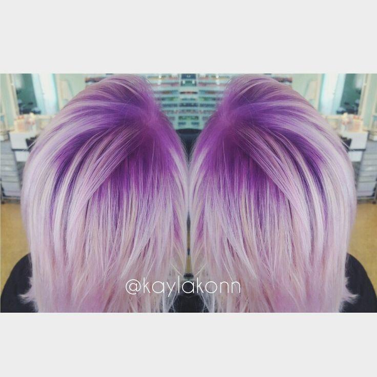 Violet shadow root. Hair by kaylakon.   Hair by KON ...