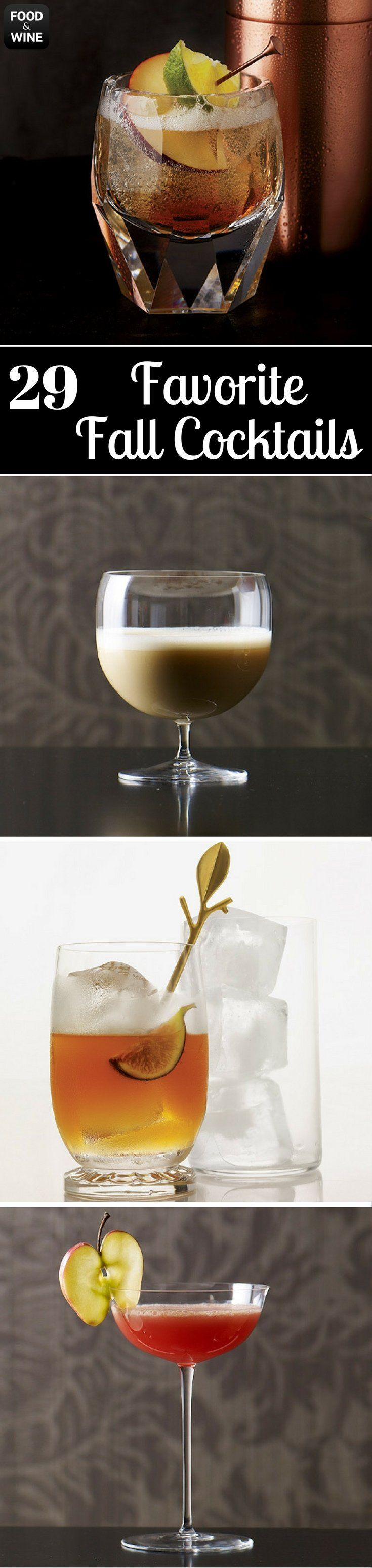 Seasonal ingredients like cranberries and apples pair beautifully with ginger beer, white wine and hard cider to create delicious drinks. Whether you're looking for a comforting hot toddy or a tart pear sour, we've got your fall cocktail needs covered. | Food & Wine