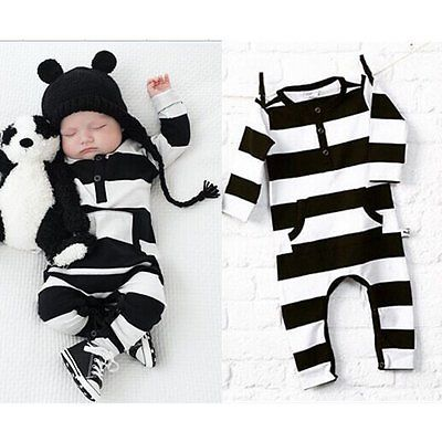 Baby Kids Boys Girls Warm Infant Romper Jumpsuit Bodysuit Cotton Clothes Outfits