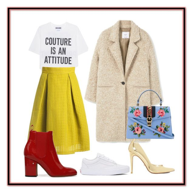 """""""spring flowers"""" by mariacherepanova on Polyvore featuring мода, Moschino, Gucci, Sans Souci, Dune и Vans"""