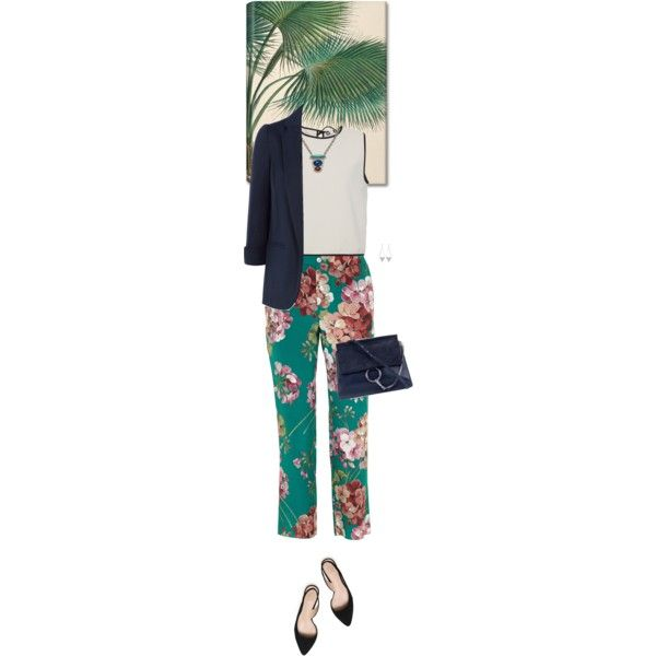 Outfit of the Day by wizmurphy on Polyvore featuring moda, MSGM, Monsoon, Gucci, Tory Burch, Chloé, Yves Saint Laurent, DANNIJO, Taschen and ootd