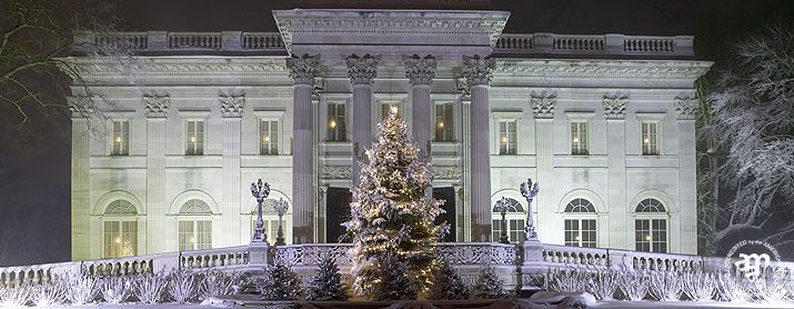 Chrimastime at The Breakers mansion in Newport, Rhode Island