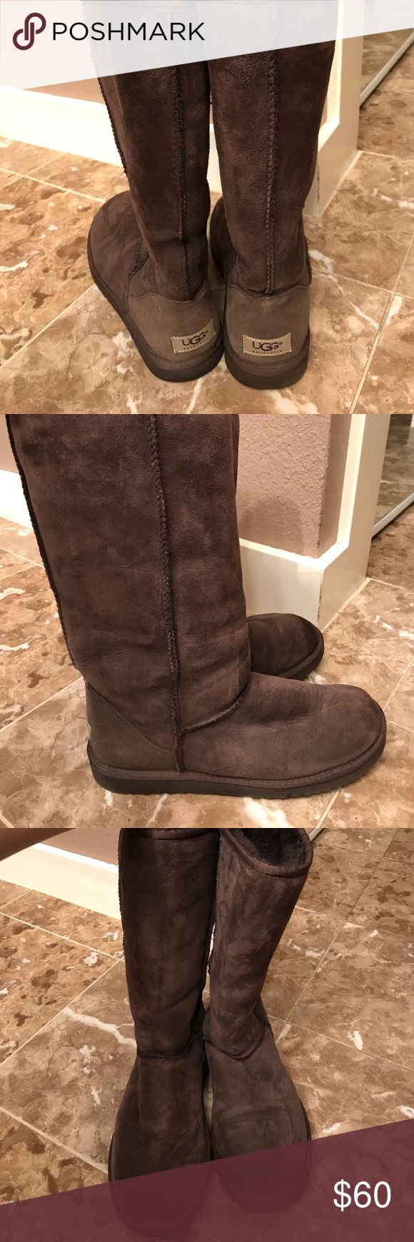 Women's UGG Classic Tall Boot Women's UGG Classic Tall Boot. Color: Chocolate. Size 9. Worn, but in great condition. Very comfortable! UGG Shoes Winter & Rain Boots