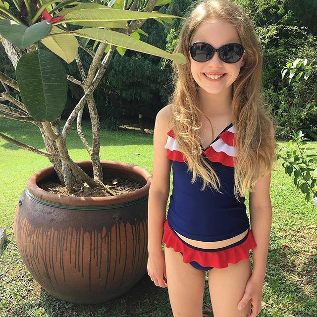 Poppy Mermaid Tankini | Red/Navy/White