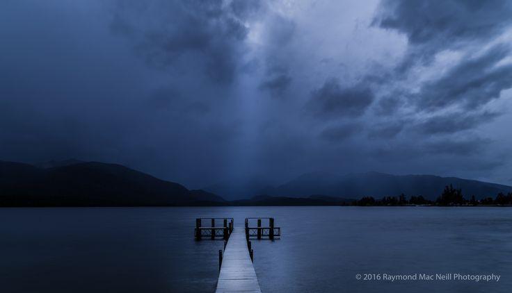 Overcast afternoon on Lake Te Anau