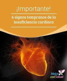¡Importante! 6 signos tempranos de la insuficiencia cardíaca Toma nota de los 6 signos tempranos que nos pueden avisar de una insuficiencia cardíaca, una de las enfermedades más graves que no podemos descuidar.