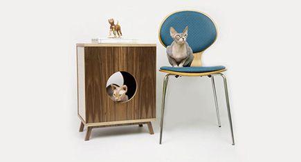 Modernist Cat: Mid-Century Modern Feline Furniture