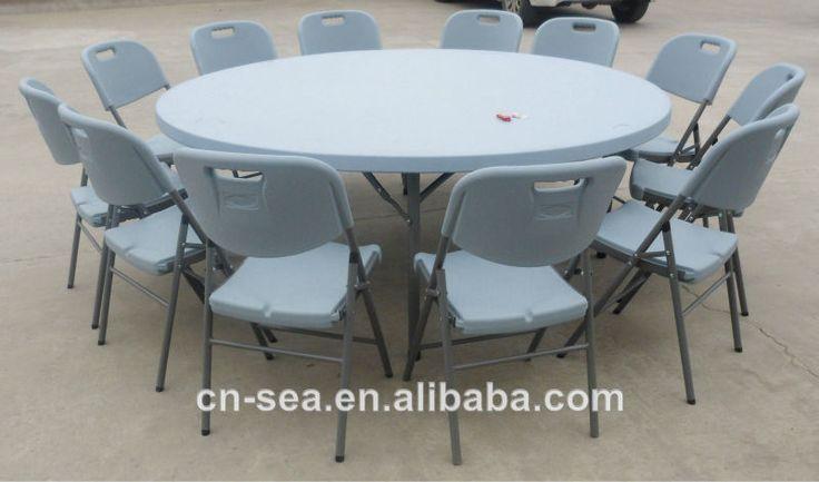 2 mater leve dobradura banquete mesa redonda para pessoas 10-12 assentos