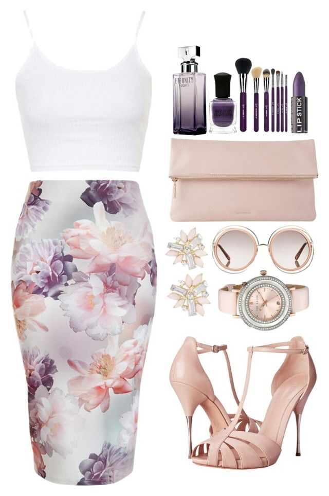 """Spring is coming!"" by teryblueberry ❤ liked on Polyvore featuring Alexander McQueen, Topshop, Whistles, Sigma Beauty, Deborah Lippmann, Calvin Klein, Cara, Ted Baker and Chloé"