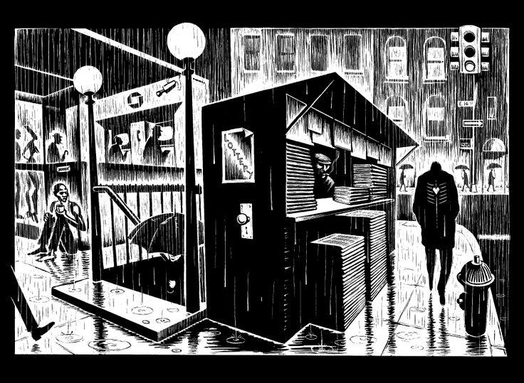 Eric Drooker - Flood, graphic novel