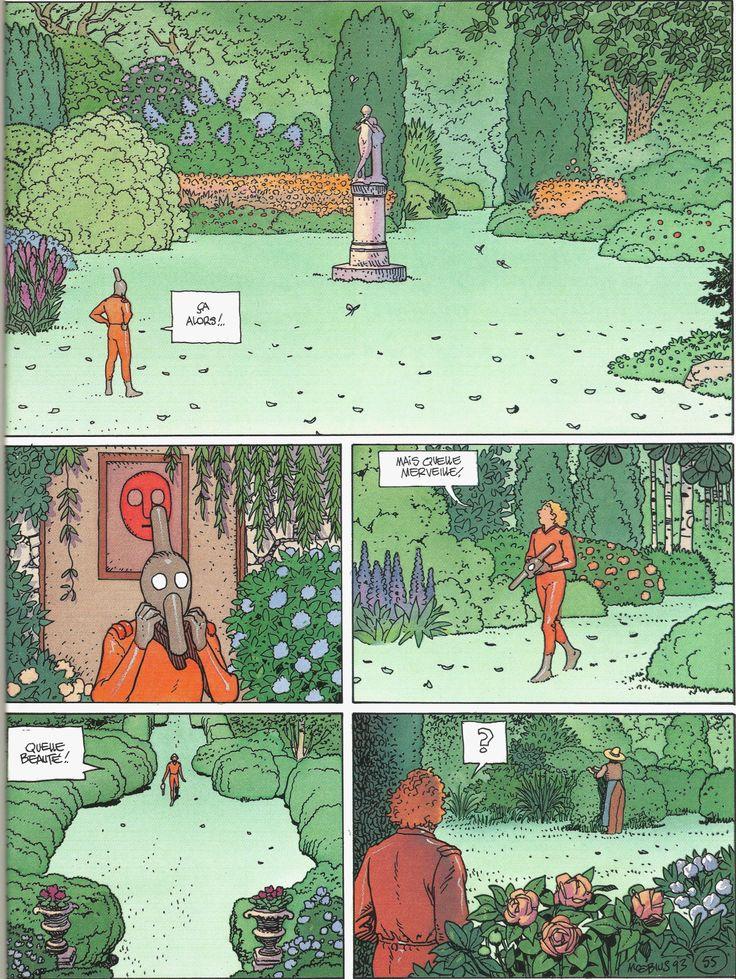 """Moebius 1993 - Page 55 of """"STEL - Edena's World Part IV"""", Editions Casterman, Paris 1994"""