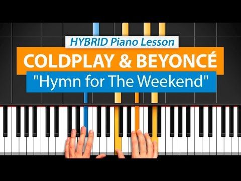 Coldplay - Hymn For The Weekend - EASY Piano Tutorial by PlutaX - YouTube