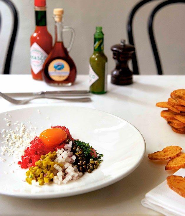 Steak tartare recipe   Andrew McConnell   Cumulus Inc :: Gourmet Traveller